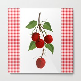 Country Cherries Metal Print