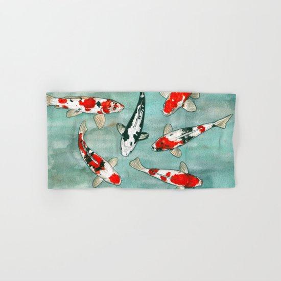 Le ballet des carpes koi Hand & Bath Towel