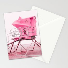 Malibu Lifeguard Tower in Pink Stationery Cards