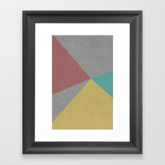 Concrete & Color Framed Art Print