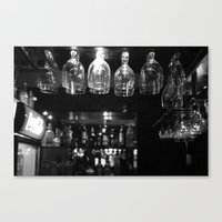 bar Canvas Prints featuring Bar by Marcela Ponce