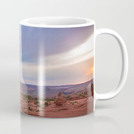 Golden Arch - Delicate Arch at Sunset in Utah Coffee Mug