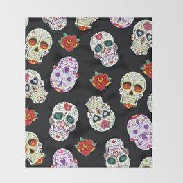 Sugar Skull Pattern Throw Blanket
