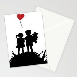 banksy peace after war Stationery Cards
