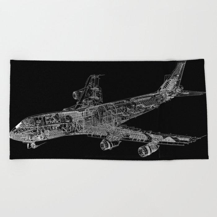 Boing 747 Beach Towel