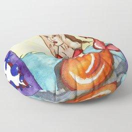 The Siren Mermaid Illustration Floor Pillow