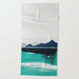 Blue coast Beach Towel