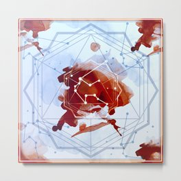 Constellation Set - January Aquarius / Garnet Metal Print