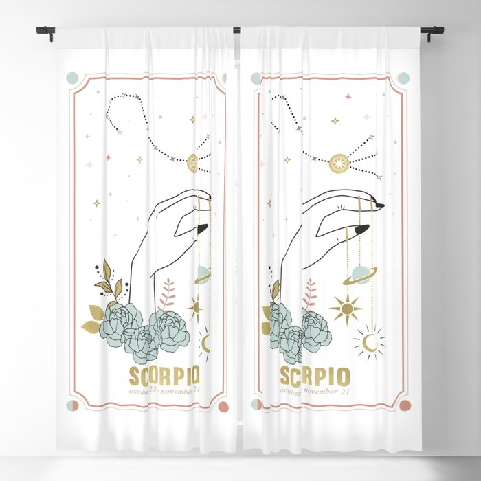 Scorpio Zodiac Series Blackout Curtain
