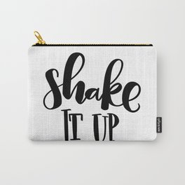 Shake It Up: white Carry-All Pouch