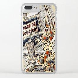 Beware of Sasquatch Clear iPhone Case