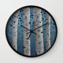 Birch Trees Wall Clock