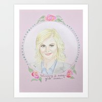 leslie knope Art Prints featuring Leslie Knope by Brenna Daugherty