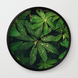 Floral Foliage Wall Clock