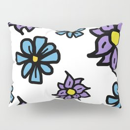 Lavenders and Blues - floral Pillow Sham