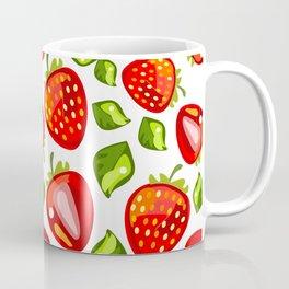juicy strawberry pattern Coffee Mug