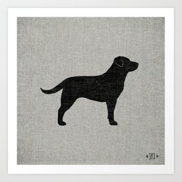 Black Labrador Retriever Silhouette Art Print