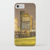 houston iPhone & iPod Cases featuring houston skyline by franckreporter
