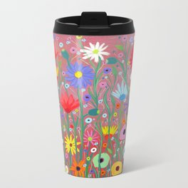 Flowers-Abstracts  Travel Mug