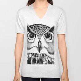 mysterious owl Unisex V-Neck
