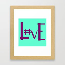 Seafoam Hashtag Love Framed Art Print