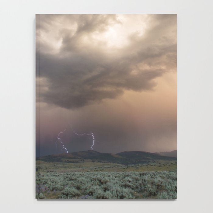 Yellowstone National Park - Sunset storm over the Washburn Range Notebook