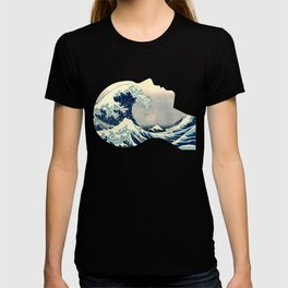 Hokusai Great Wave in My Head T-shirt