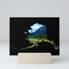 Alaska Outline - God's Country Mini Art Print