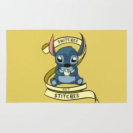 Snitches Get Stitches Rug