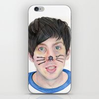 phil jones iPhone & iPod Skins featuring Phil by Beth Mellett