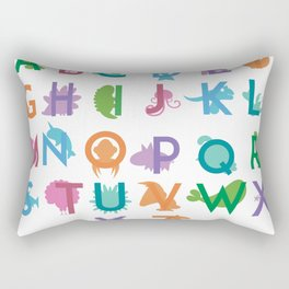 ABCs - Animal Print Rectangular Pillow