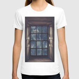 Space view Window-Moon shine T-shirt