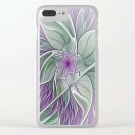 Flower Dream, Abstract Fractal Art Clear iPhone Case