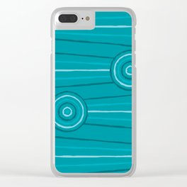 Reef Line Painting Clear iPhone Case