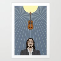 eddie vedder Art Prints featuring Eddie Vedder by olive industries