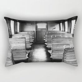 Old train compartment - Altes Zugabteil Rectangular Pillow