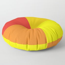 Red orange quarters Floor Pillow