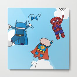 Superheros Metal Print