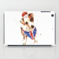 jack russell iPad Cases featuring LONDON - Jack Russell Art - Union Jack by eastwitching