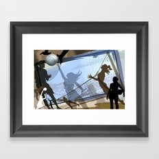 Anyone For Volleyball? Framed Art Print