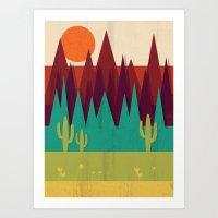 arizona Art Prints featuring Arizona by Kakel