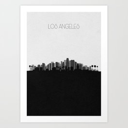 City Skylines: Los Angeles (Alternative) Art Print