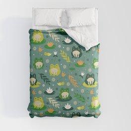Cute little frogs pond pattern Comforters