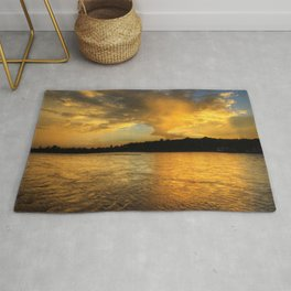 when the light turns to gold... Rug