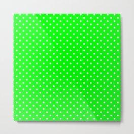 Dots (White/Green) Metal Print