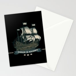 Sailing Ship Gold And Glory Stationery Cards