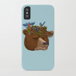 Mr Bear's Nature Hat 2017 iPhone Case