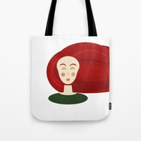 doll Tote Bags featuring Doll by Catherine A.