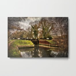 Sulhamstead Lock on the Kennet and Avon Metal Print