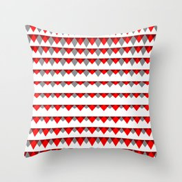 embers geometric pattern Throw Pillow